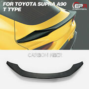 T Type Carbon Glossy Rear Trunk Spoiler Wing Fit For Toyota 19+ Supra A90