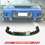 Fit For Skyline R33 Gtr Carbon Glossy As Style Front Bumper Lip Kit