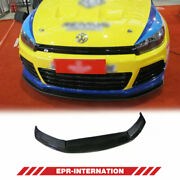 Cr Style Carbon Glossy Front Bumper Bottom Lip Exterior Kit For Vw Scirocco R