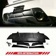 Var Style Carbon Glossy Fit For Mitsubishi Evo 9 Rear Diffuser Under Spoiler