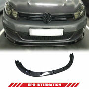 H2-style Carbon Glossy For Volkswagen Golf Mk6 Gti Front Bumper Lip Exterior Kit