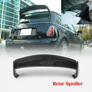 For Mini R50 R53 Mini Cooper Aqr Style Carbon Glossy Rear Spoiler Roof Wing Kit