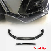 For Civic Typ-r Fk8 2017+ Vrsar2 Style Carbon Front Bumper Lip With Ic Shroud