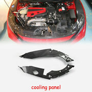For 17 Onwards Honda Civic Tyr Fk8 Oe Carbon Glossy Engine Bay Side Panel Cover
