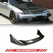 Fit For Nissan Skyline R32 Gtr Front Bumper Lip Carbon Glossy Tbo Style