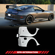 Frp Unpainted Rid Style Rear Fender Mudguards For 93-98 Toyota Supra Mk4 Jza80