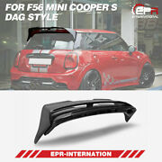 Carbon Glossy For F56 Mini Cooper S Dag Style Rear Spoiler Wing Exterior Kits