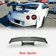 For Nissan Gtr R35 N Attack Carbon Glossy Rear Gt Spoiler Wings With Lights