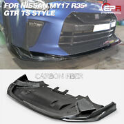 For Nissan My17 R35 Gtr Ts Tape Carbon Fiber Front Diffuser Under Spoiler Kits