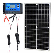 Tp-solar Solar Panel Kit 30w 12v Monocrystalline Battery Charger Maintainer With