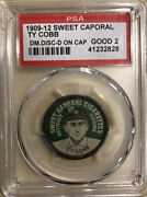 Ty Cobb 1909-12 Sweet Caporal Domino Disc Green D On Cap 🔥good Psa 2🔥
