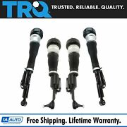 Trq Front Rear Complete Air Strut Shock Assembly Kit Set 4pc For Mb W221 4matic