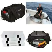 Tackle Bag Utility Boxes Fishing Camping Gear Tool Holder Textured Molded Bottom