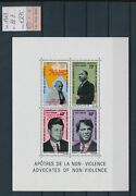 149. Cameroon 1969 Stamp S/s Gandhi Kennedy M.luther King O/p Moon Landing .