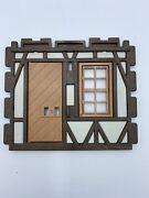 Playmobil 3666 Castle Parts House Wall Door Window Htf Kings Medieval Knights