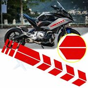 Racing Red Car Body Reflective Stickers Arrows Pattern Stripe For Bmw Motorcycle