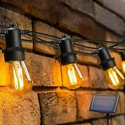 Oxyled Led Solar String Lights Outdoor With 15s14 Led Bulbs 49ft Hanging Bulb S