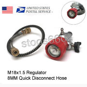 M18x1.5 Thread Hpa Tank 4500psi Valve Gauge With Hoseandfill Station For Pcp Game