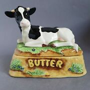 Vintage Border Fine Arts James Herriot Country Kitchen Cow Butter Dish 470996 A1