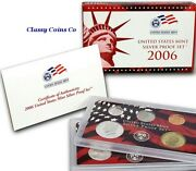 2006 S Us Silver Proof Set ☆☆ Great For Sets ☆☆ 10 Proof Coins ☆☆