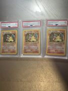 Pokemon 1st Edition Charizards Psa7 All 3 Cards Vintage Sets Non First Edition