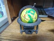 Vintage Spinning Globe With Metal Stand Pencil Sharpener