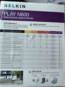New Belkin Play N600 Wireless Dual Band Router - High Performance Game Streaming
