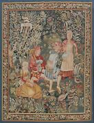 Pictorial Needlepoint Tapestries French Area Rug Flat-weave Wall-hanging 6and039x8and039