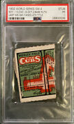 1932 World Series Game 4 Ticket Stub Babe Ruth Last Ws Game🔥yankees 4th🏆psa🔥