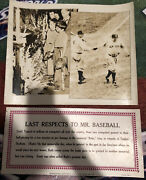 Babe Ruth Original Photograph From Elliot Services Company 17x14 And17x8 Rare