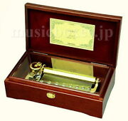 New 72 Note W.houston One Moment In Time 3parts Music Box W+s Orpheus Sankyo