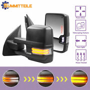 Pair Power Heated Towing Mirrors For 2003-2016 Ford F250 F350 F450 F550