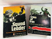 Vintage Squad Leader And Cross Of Iron Wwii Avalon Hill Board Game Lot 4th Ed 1977
