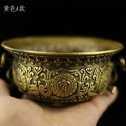 Chinese Antique Brass Statue Hand Ming Xuande Lucky Cornucopia Incense Burners