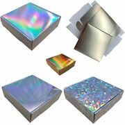 50pcs Eco-friendly Paper Candy Box For Wedding Holographic Gift Packaging Party