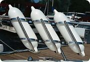 Taylor Made Products 3009 Stainless Steel Boat Fender Rack 7 To 9 Fenders Ho...