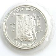 The Right To Privacy 1oz..999 Silver Round Sealed Johnson Matthey