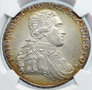 1794 German States - Saxony Frederick Augustus Old Silver Thaler Coin Ngc I89602
