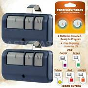 2 For Chamberlain Liftmaster Garage Door Opener Remote Blue 893lm 953ev-p2 Learn