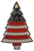 Pack Of 50 Usa Christmas Tree Stars And Stripes Motorcycle Hat Cap Lapel Pin