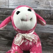 Adorable Pink With Daisies Sugarloaf Lamb Plush Stuffed Animal Easter Spring