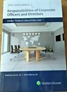 Responsibilities Of Corporate Officers And Directors Under Federal Securities Law