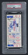 Vintage 1970 World Series Reds @ Orioles Full Ticket Game 5 Clincher - Psa