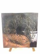 Antique Early  And Co. Sterling Silver Art Deco Compact