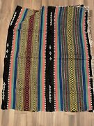 """Massive Vintage 1960's Mexican Saltillo Blanket 90 Inches By 54"""" Large"""