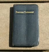 Ww2 Us Issued 1944 Dated Christian Canteen French New Testament Bible