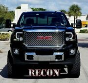 Recon Smoked Projector Headlights Gmc Sierra And Denali 14-17 Oled Technology
