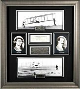 Wright Brothers Autographed Aviation Display