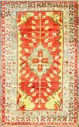 Amazing Oushak Hand Made Carpet 5and0399 X 9and039115486