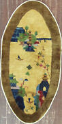Antique Art Deco Chinese Rug 2and0395 X 4and03910 Oval 17191